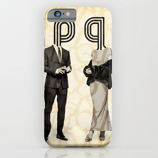 Mr P and Mrs Q iPhone & iPod Case