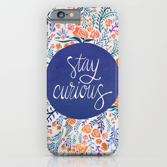 Stay Curious – Navy & Coral iPhone & iPod Case