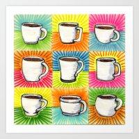 I Drew You 9 Little Mugs… Art Print