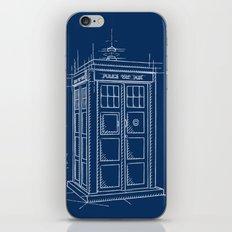Plan Tardis iPhone & iPod Skin