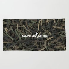 Counter strike weapon camouflage Beach Towel