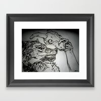 Pullin The Wolf Over My … Framed Art Print