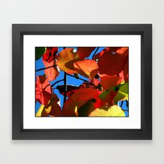 More Fall Leaves Framed Art Print