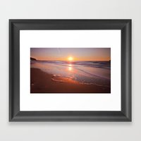 Sunrise Waves Framed Art Print