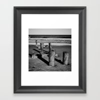 Belmar Beach. Framed Art Print