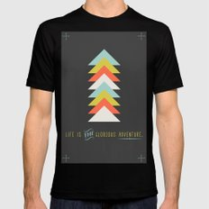 Life is the glorious adventure Mens Fitted Tee Black SMALL