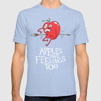 Apple Shot Mens Fitted Tee Tri-Blue SMALL