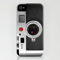 iPhone 4s & iPhone 4 Cases featuring classic retro Black silver Leather vintage camera iPhone 4 4s 5 5c, ipod, ipad case by Three Second