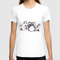 Drums Womens Fitted Tee White SMALL