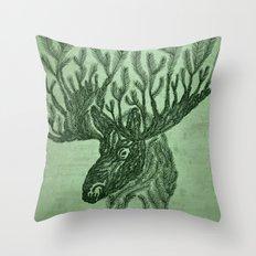 Moose-fir Throw Pillow