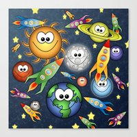 Solar Spaced Out. Canvas Print