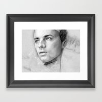 Charcoal Drawing No. 2 Framed Art Print