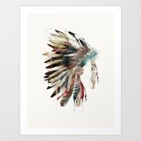 Native Headdress Art Print