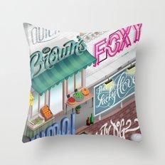 City Pangrams Throw Pillow