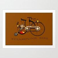 Steampunk Bike Art Print