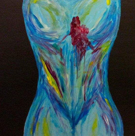 Blued Art Print