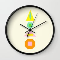 Shapes Within Shapes Wall Clock