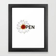 Open Flower  Framed Art Print