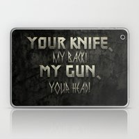 Your Knife My Back! Laptop & iPad Skin
