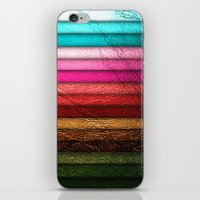 Chic Leather Glitter Str… iPhone & iPod Skin