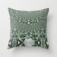 Jewelled Sage - Fractal Throw Pillow