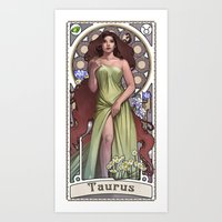 Zodiac Art Show - Taurus Art Print