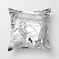 Midnight Blossom / Origi… Throw Pillow