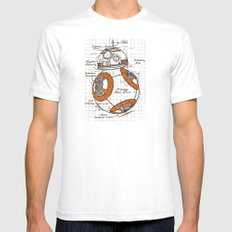 BB-8 White Mens Fitted Tee SMALL