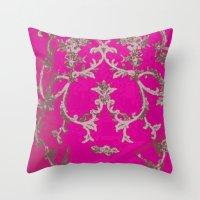 Lush Pink Textile  Throw Pillow