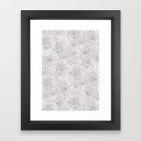 Flowers in lines Framed Art Print