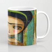 Frida In A Purple And Blue Dress Mug