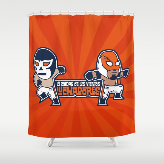 Los Luchadores Shower Curtain