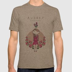 Audrey siri IV Mens Fitted Tee Tri-Coffee SMALL