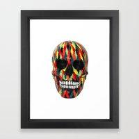 Upoko Skull Framed Art Print