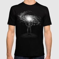Mr. Galaxy SMALL Mens Fitted Tee Black