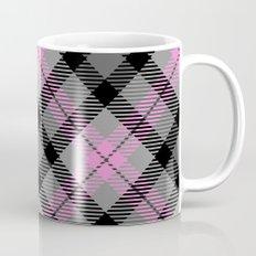 Pink and Gray Plaid Mug