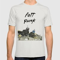 Fett Punk Mens Fitted Tee Silver SMALL
