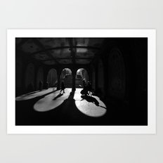 The Play Of Winter In Central Park Art Print