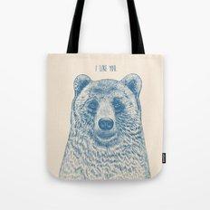 Bear (Ivory) Tote Bag