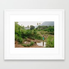 Collecting Water Framed Art Print