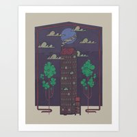 The Towering Bed And Bre… Art Print
