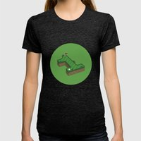 Hole In One Womens Fitted Tee Tri-Black SMALL