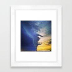 Slow Lightning Framed Art Print