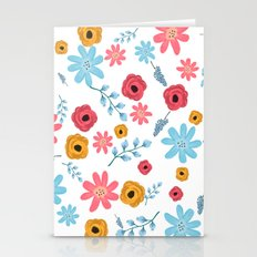 Colors Flowers 3 Stationery Cards