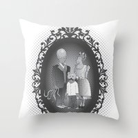 Framed family portrait Throw Pillow