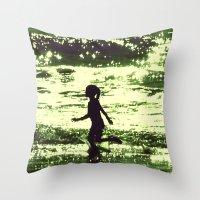 Minty-Fresh Tingles Throw Pillow