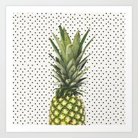 Polka Dot Pineapple Art Print