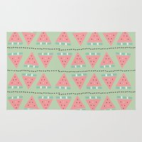 watermelon repeat Rug
