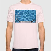 Swimming pool Mens Fitted Tee Light Pink SMALL