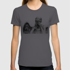 Weeping Angel Womens Fitted Tee Asphalt SMALL